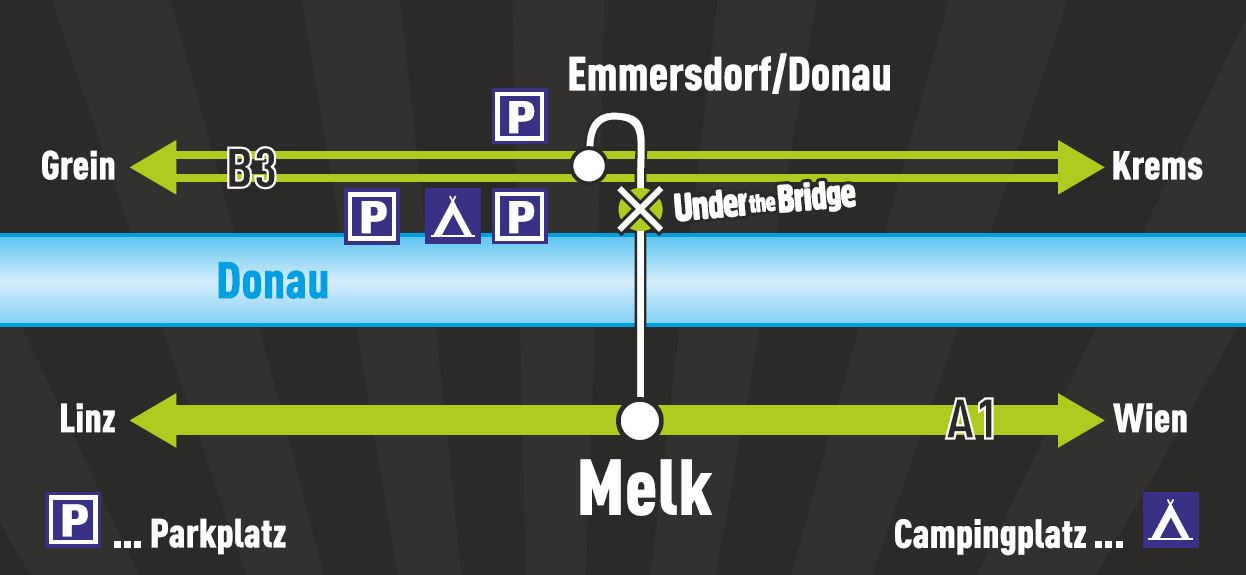Anreise Under the Bridge Festival Emmersdorf